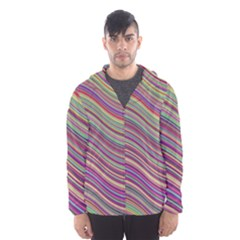 Wave Abstract Happy Background Hooded Wind Breaker (Men)