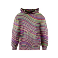 Wave Abstract Happy Background Kids  Pullover Hoodie