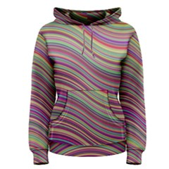 Wave Abstract Happy Background Women s Pullover Hoodie