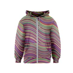 Wave Abstract Happy Background Kids  Zipper Hoodie