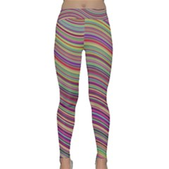 Wave Abstract Happy Background Classic Yoga Leggings