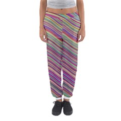 Wave Abstract Happy Background Women s Jogger Sweatpants