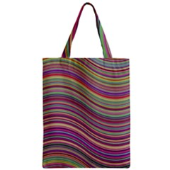 Wave Abstract Happy Background Zipper Classic Tote Bag