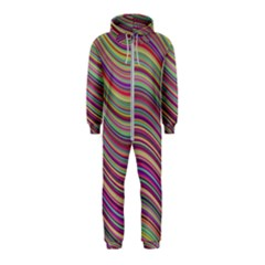 Wave Abstract Happy Background Hooded Jumpsuit (Kids)