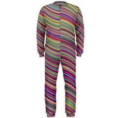 Wave Abstract Happy Background OnePiece Jumpsuit (Men)