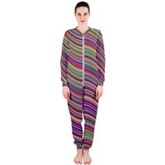 Wave Abstract Happy Background OnePiece Jumpsuit (Ladies)