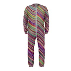 Wave Abstract Happy Background OnePiece Jumpsuit (Kids)