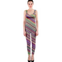 Wave Abstract Happy Background OnePiece Catsuit