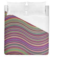 Wave Abstract Happy Background Duvet Cover (Queen Size)