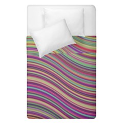 Wave Abstract Happy Background Duvet Cover Double Side (Single Size)