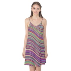 Wave Abstract Happy Background Camis Nightgown