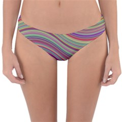 Wave Abstract Happy Background Reversible Hipster Bikini Bottoms