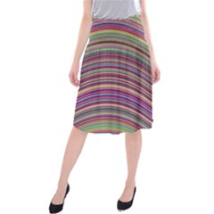 Wave Abstract Happy Background Midi Beach Skirt