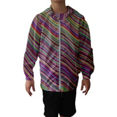 Wave Abstract Happy Background Hooded Wind Breaker (Kids)