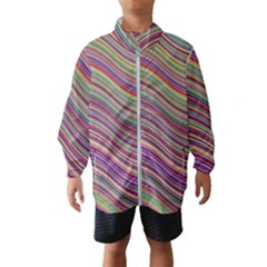 Wave Abstract Happy Background Wind Breaker (Kids)