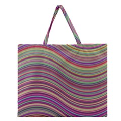 Wave Abstract Happy Background Zipper Large Tote Bag