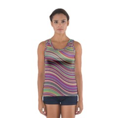 Wave Abstract Happy Background Sport Tank Top