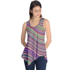 Wave Abstract Happy Background Sleeveless Tunic