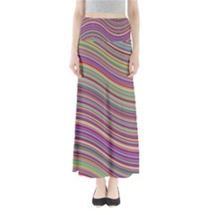 Wave Abstract Happy Background Full Length Maxi Skirt