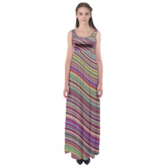 Wave Abstract Happy Background Empire Waist Maxi Dress