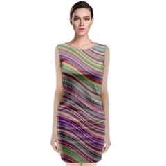 Wave Abstract Happy Background Classic Sleeveless Midi Dress