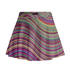 Wave Abstract Happy Background Mini Flare Skirt