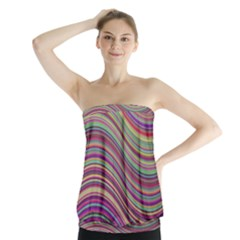 Wave Abstract Happy Background Strapless Top