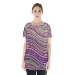 Wave Abstract Happy Background Skirt Hem Sports Top