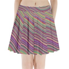 Wave Abstract Happy Background Pleated Mini Skirt