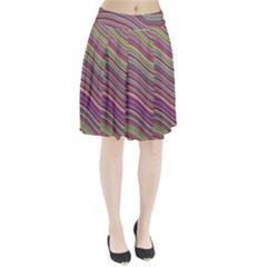 Wave Abstract Happy Background Pleated Skirt