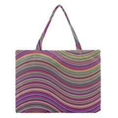 Wave Abstract Happy Background Medium Tote Bag