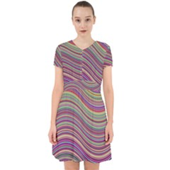 Wave Abstract Happy Background Adorable in Chiffon Dress