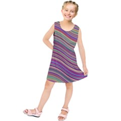 Wave Abstract Happy Background Kids  Tunic Dress