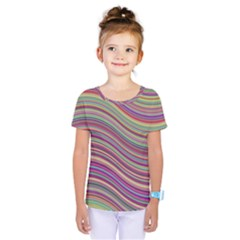Wave Abstract Happy Background Kids  One Piece Tee