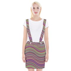 Wave Abstract Happy Background Braces Suspender Skirt