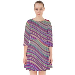 Wave Abstract Happy Background Smock Dress