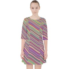 Wave Abstract Happy Background Pocket Dress