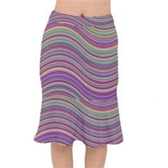 Wave Abstract Happy Background Mermaid Skirt