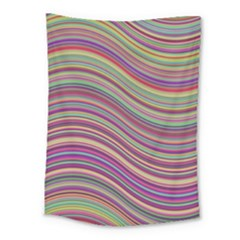 Wave Abstract Happy Background Medium Tapestry