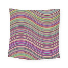 Wave Abstract Happy Background Square Tapestry (Small)