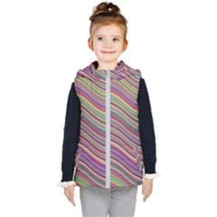 Wave Abstract Happy Background Kid s Puffer Vest
