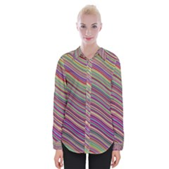 Wave Abstract Happy Background Womens Long Sleeve Shirt