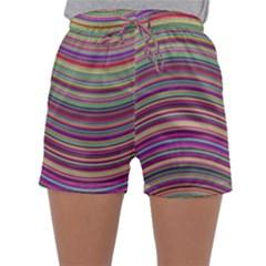 Wave Abstract Happy Background Sleepwear Shorts