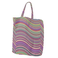 Wave Abstract Happy Background Giant Grocery Zipper Tote
