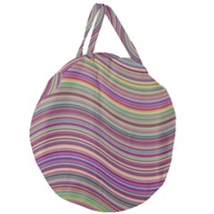 Wave Abstract Happy Background Giant Round Zipper Tote
