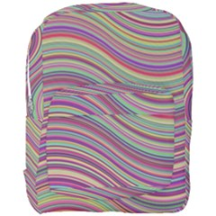 Wave Abstract Happy Background Full Print Backpack