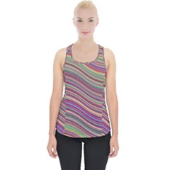 Wave Abstract Happy Background Piece Up Tank Top