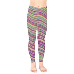 Wave Abstract Happy Background Kids  Legging