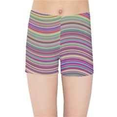 Wave Abstract Happy Background Kids Sports Shorts