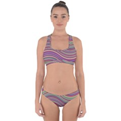 Wave Abstract Happy Background Cross Back Hipster Bikini Set